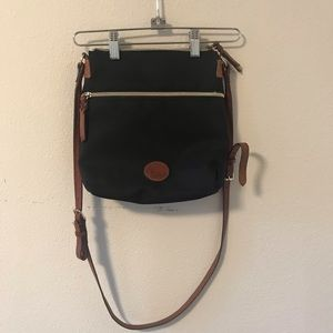 Vintage Dooney & Bourke Canvas Crossbody Bag
